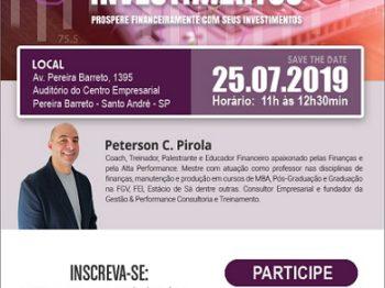 """Abrafiltros promove palestra """"Diversificando Investimentos"""" no dia 25 de julho"""