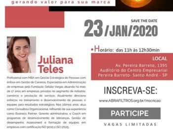 """Primeira palestra da Abrafiltros, em 2020, vai abordar o tema """"Inovação e Resultados: como gerar valor para a marca"""""""