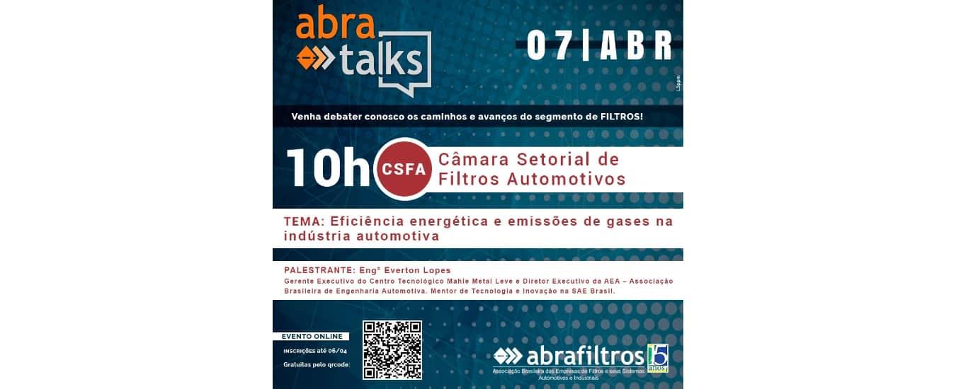 """""""Abra Talks"""" debate eficiência energética e emissões de gases na indústria automotiva em abril"""