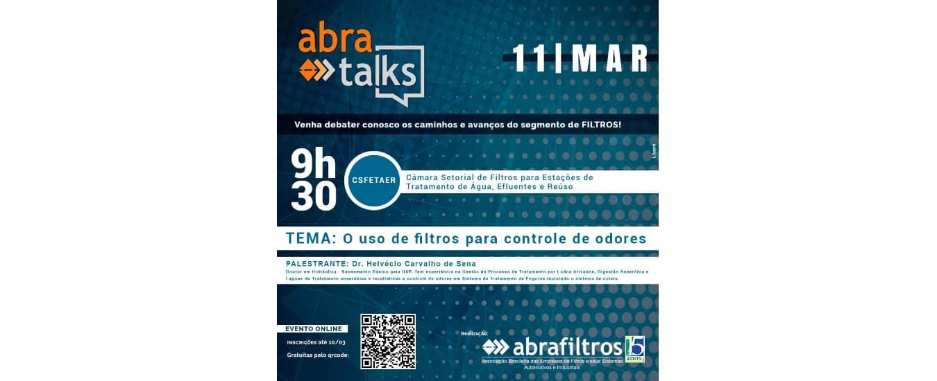 """Abra Talks"" debate o uso de filtros para controle de odores"