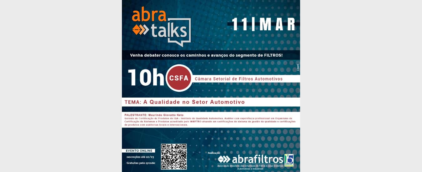 """IQA aborda o tema """"A Qualidade no Setor Automotivo"""" no """"Abra Talks"""""""