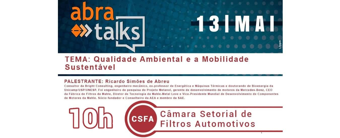 """""""Abra Talks"""" debate Qualidade Ambiental e a Mobilidade Sustentável"""