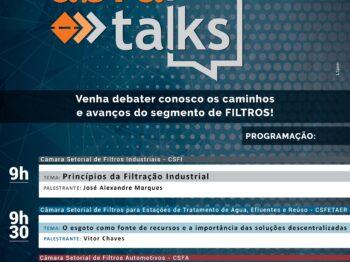 Abra Talks, evento para o setor de filtros, acontecerá dia 12 de agosto